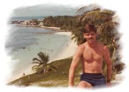 Ron at Bahia Honda in Florida Keys  (1982)